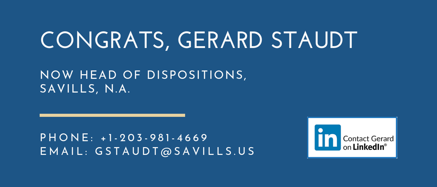 Gerard Staudt Now Head of Dispositions Savills, N.A.